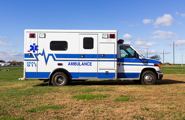 used Type III ambulance for sale - 2004 AEV - passenger side