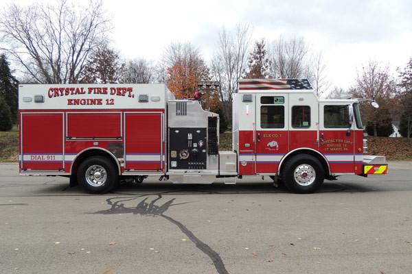 new rescue fire engine sales - 2016 Pierce Enforcer - passenger side