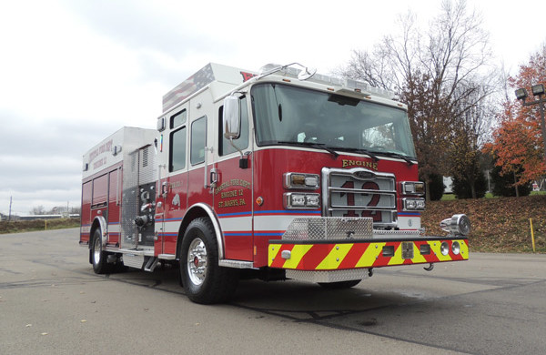 new rescue fire engine sales - 2016 Pierce Enforcer - passenger front