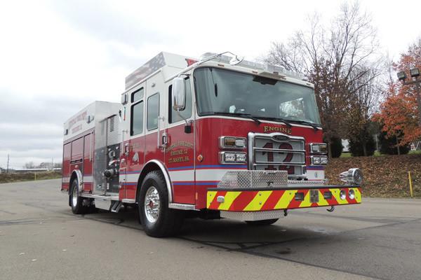 new rescue fire engine sales - 2016 Pierce Enforcer - passenger front