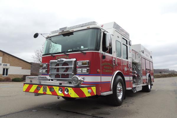 new rescue fire engine sales - 2016 Pierce Enforcer - driver front