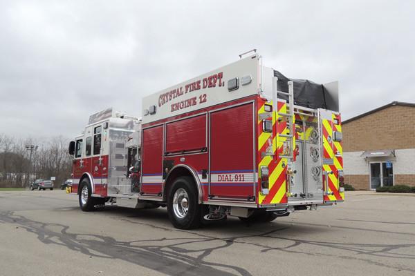 new rescue fire engine sales - 2016 Pierce Enforcer - driver rear