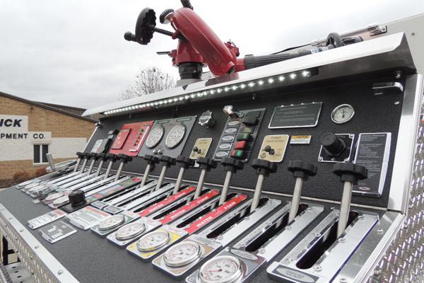 new rescue fire engine sales - 2016 Pierce Enforcer - top mount pump panel