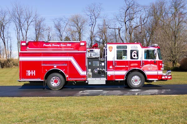 2017 Pierce Enforcer pumper - new fire engine sales in PA - passenger side