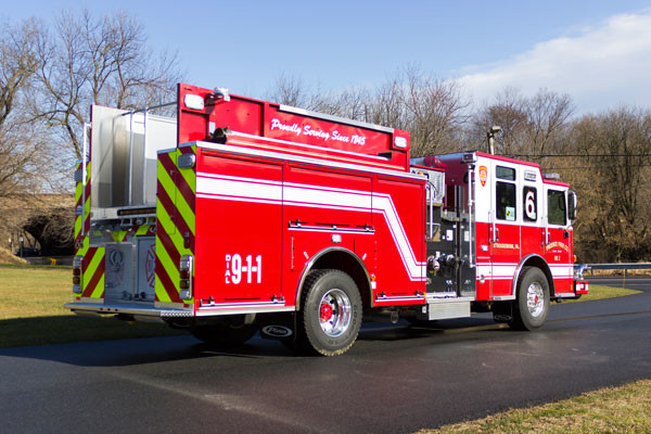 2017 Pierce Enforcer pumper - new fire engine sales in PA - passenger rear