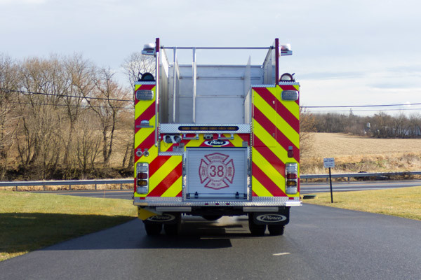 2017 Pierce Enforcer pumper - new fire engine sales in PA - rear