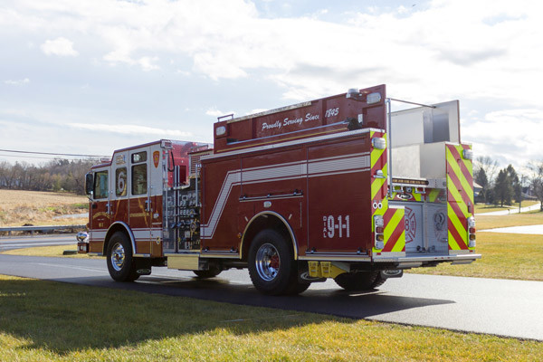 2017 Pierce Enforcer pumper - new fire engine sales in PA - driver rear