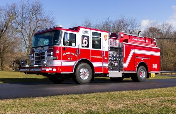 2017 Pierce Enforcer pumper - new fire engine sales in PA - driver front