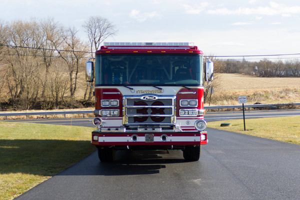 2017 Pierce Enforcer pumper - new fire engine sales in PA - front