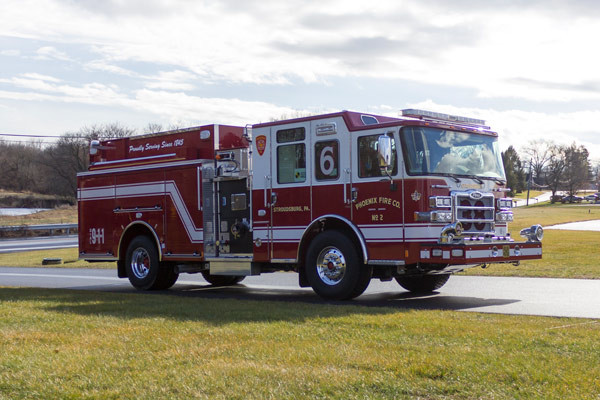 2017 Pierce Enforcer pumper - new fire engine sales in PA - passenger front