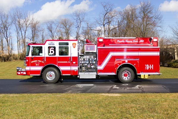 2017 Pierce Enforcer pumper - new fire engine sales in PA - driver side