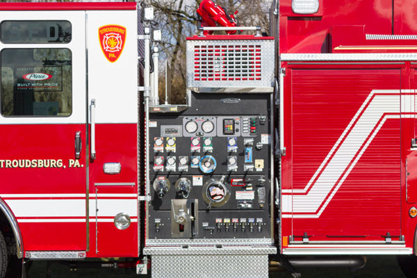 2017 Pierce Enforcer pumper - new fire engine sales in PA - pump control panel