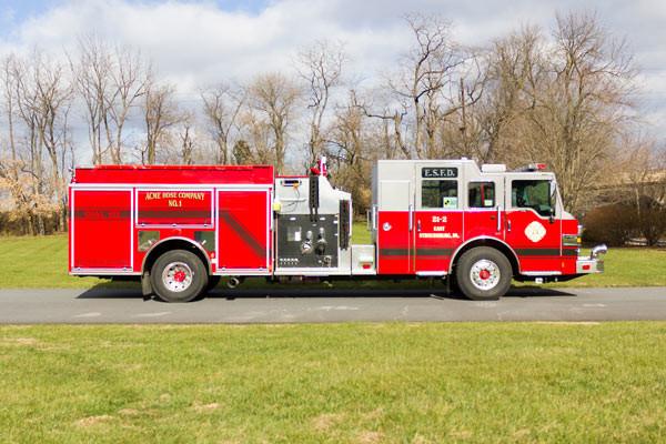 new fire pumper sales - 2017 Pierce Velocity - passenger side