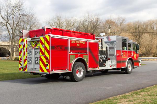 new fire pumper sales - 2017 Pierce Velocity - passenger rear