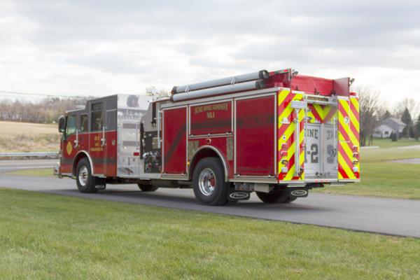 new fire pumper sales - 2017 Pierce Velocity - driver rear