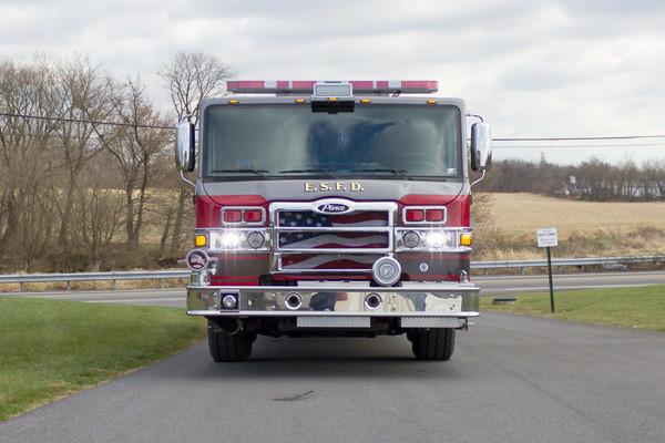 new fire pumper sales - 2017 Pierce Velocity - front