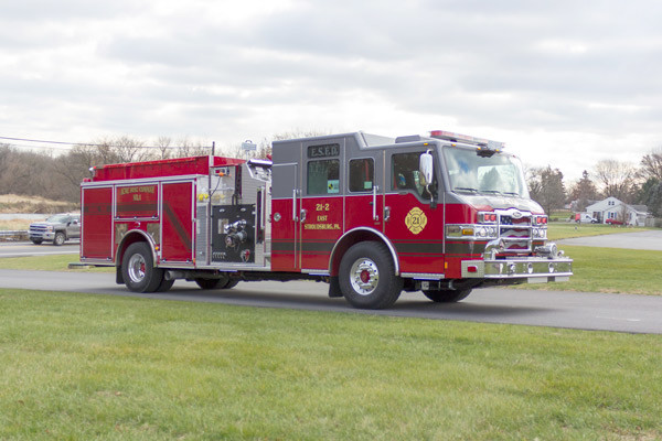 new fire pumper sales - 2017 Pierce Velocity - passenger front