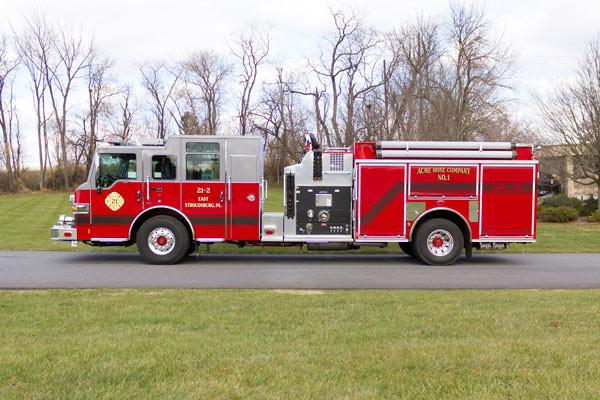 new fire pumper sales - 2017 Pierce Velocity - driver side