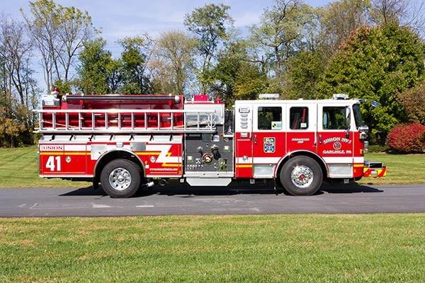 2016 Pierce Enforcer fire engine - new pumper sales - passenger side