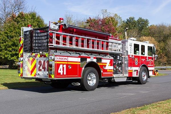 2016 Pierce Enforcer fire engine - new pumper sales - passenger rear
