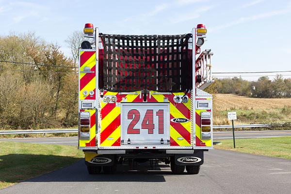 2016 Pierce Enforcer fire engine - new pumper sales - rear
