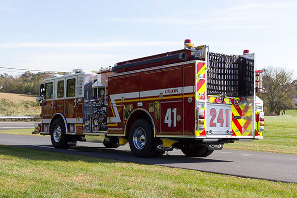 2016 Pierce Enforcer fire engine - new pumper sales - driver rear
