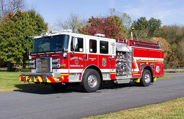2016 Pierce Enforcer fire engine - new pumper sales - driver front