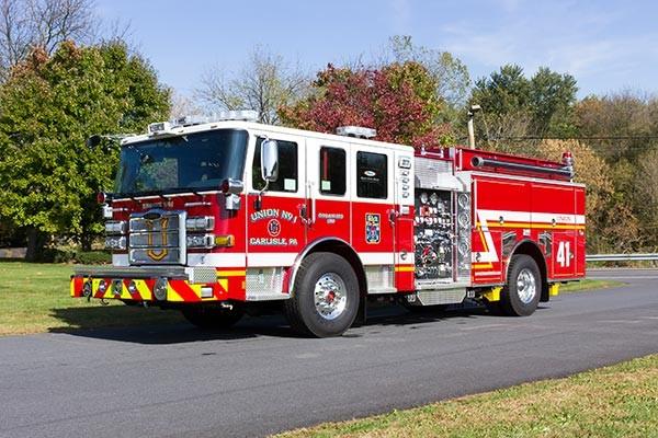 2016 Pierce Enforcer fire engine - new pumper sales - driver front