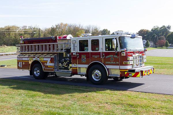 2016 Pierce Enforcer fire engine - new pumper sales - passenger front