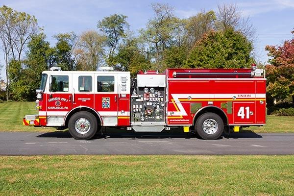 2016 Pierce Enforcer fire engine - new pumper sales - driver side