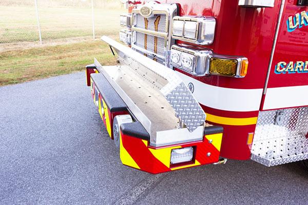 2016 Pierce Enforcer fire engine - new pumper sales - front bumper crosslay