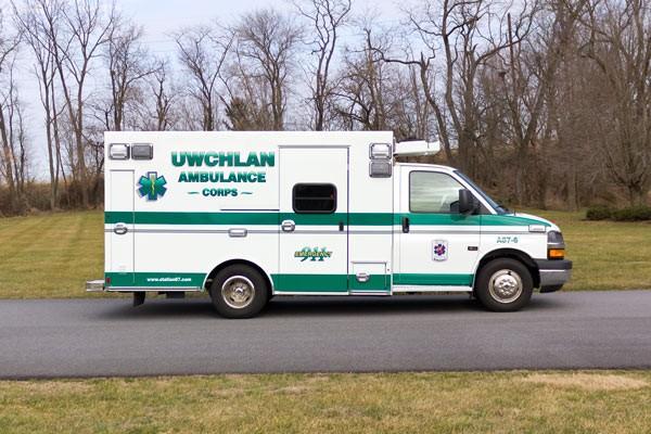 new ambulance sales in PA - Braun Express Type III - passenger side