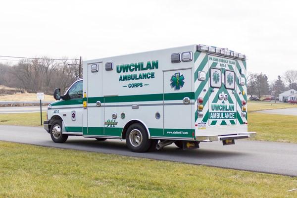 new ambulance sales in PA - Braun Express Type III - driver rear