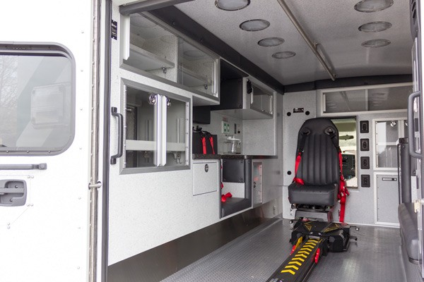 new ambulance sales in PA - Braun Express Type III - module interior driver side
