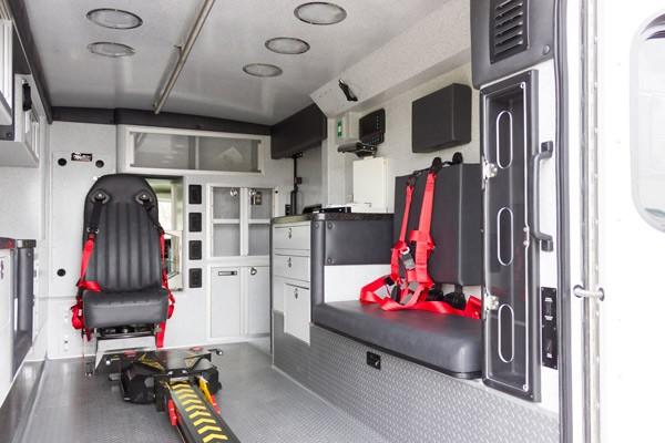 new ambulance sales in PA - Braun Express Type III - module interior passenger side