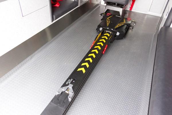 new ambulance sales in PA - Braun Express Type III - power stretcher track