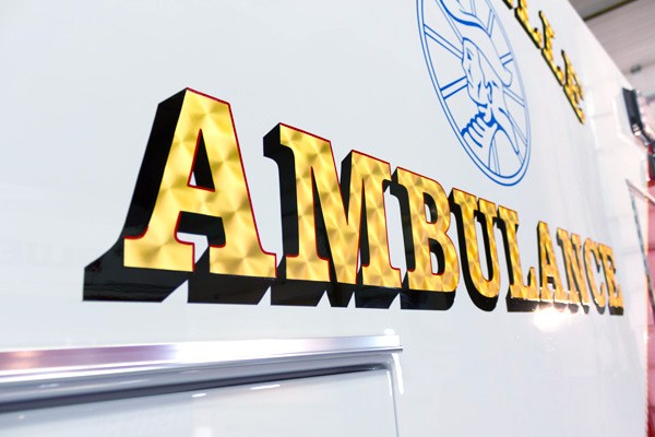2016 Braun Liberty Type I - new ambulance sales in PA - real gold leaf hand lettering