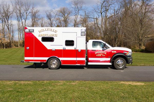 2016 Braun Liberty Type I - new ambulance sales in PA - passenger side