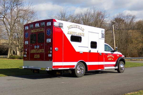 2016 Braun Liberty Type I - new ambulance sales in PA - passenger rear