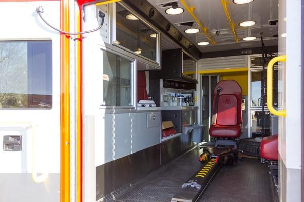 Glick Fire Equipment - Pennsylvania new type I ambulance sales - module interior driver side