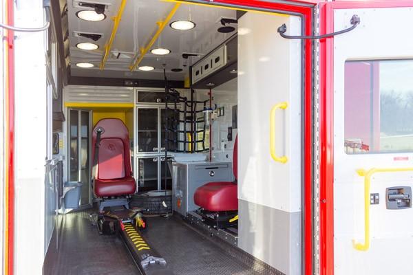 Glick Fire Equipment - Pennsylvania new type I ambulance sales - module interior passenger side
