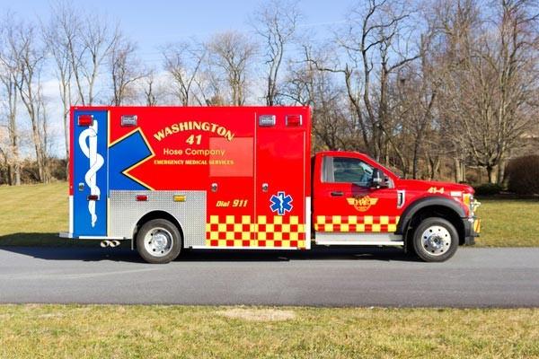 Glick Fire Equipment - Pennsylvania new type I ambulance sales - passenger side