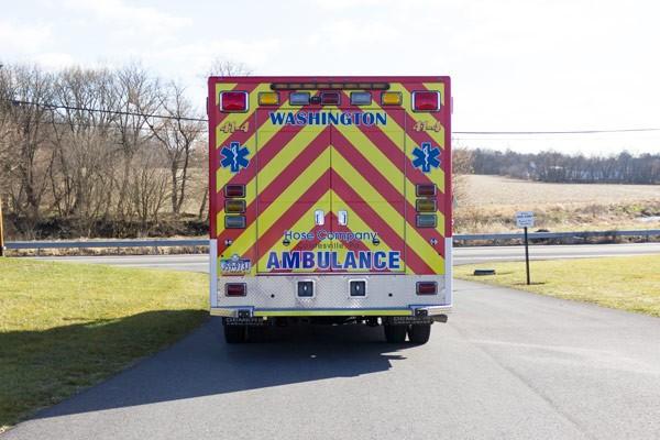 Glick Fire Equipment - Pennsylvania new type I ambulance sales - rear