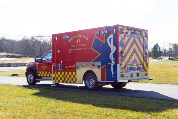 Glick Fire Equipment - Pennsylvania new type I ambulance sales - driver rear