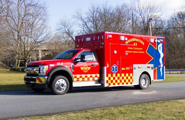 Glick Fire Equipment - Pennsylvania new type I ambulance sales - driver front