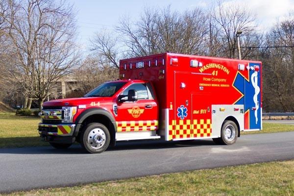 Glick Fire Equipment - Pennsylvania new type I ambulance sales - driver front
