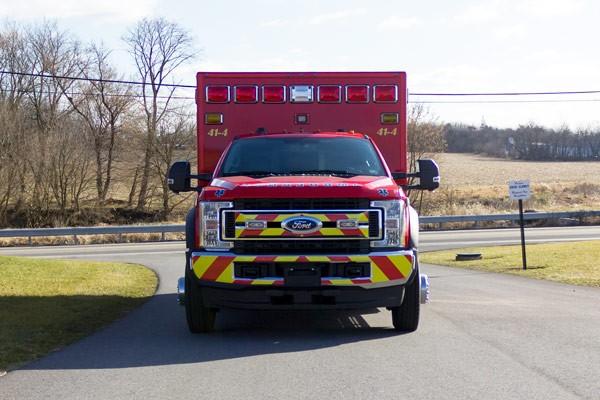 Glick Fire Equipment - Pennsylvania new type I ambulance sales - front