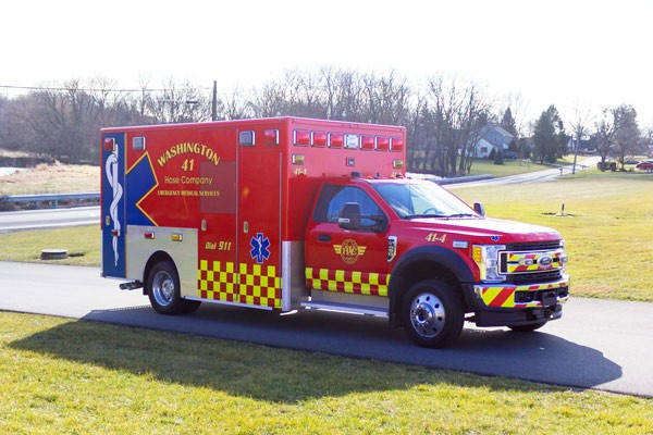 Glick Fire Equipment - Pennsylvania new type I ambulance sales - passenger front