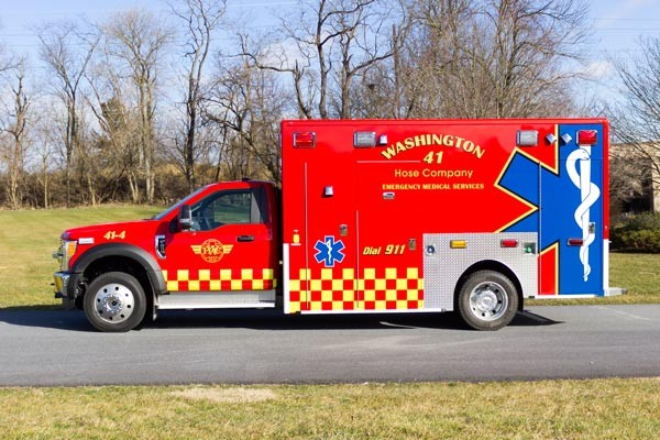 Glick Fire Equipment - Pennsylvania new type I ambulance sales - driver side