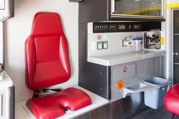 Glick Fire Equipment - Pennsylvania new type I ambulance sales - module interior detail